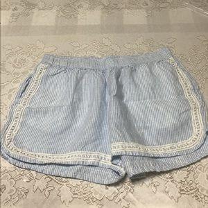 Cute Light blue and white seersucker shorts